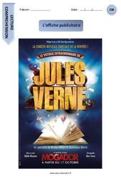 Jules Verne – Affiche publicitaire – Lecture compréhension – Textes informatifs / Documentaires : 4eme, 5eme Primaire