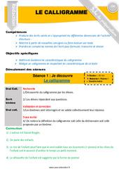 Calligramme – Rédaction – Textes poétiques – Fiche de préparation : 4eme, 5eme Primaire