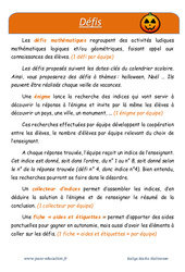 Halloween – Défi maths – Enigmes mathématiques : 4eme Primaire