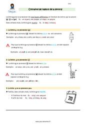 Connaitre les valeurs de la lettre g – Cours, Leçon : 4eme Primaire