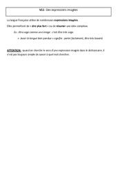 Expressions imagées – Cours, Leçon – Vocabulaire : 5eme Primaire