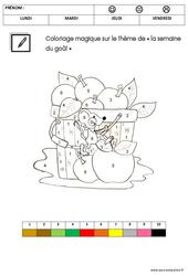 Coloriage magique sur le thème « la semaine du goût » : 3eme Maternelle – Cycle Fondamental