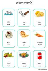 Imagier du goût en 2 polices : 2eme Maternelle – Cycle Fondamental