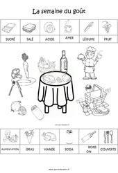 Scène et exploitation pédagogique de « La semaine du goût » : 1ere Maternelle – Cycle Fondamental