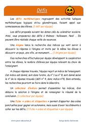 Halloween – Défi maths – Enigmes mathématiques : 1ere Primaire
