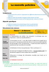 Ecrire un récit / nouvelle policière – Rédaction – Production d'écrit – Fiche de préparation : 4eme, 5eme Primaire