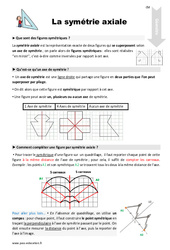 Symétrie axiale – Cours, Leçon : 5eme Primaire