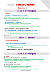 Semaine 14 – Cahier journal – PES – Stagiaires, jeunes profs… : 5eme Primaire