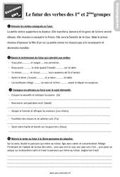 Exercices, révisions sur le futur des verbes des 1er ème groupes au  avec les corrections : 5eme Primaire