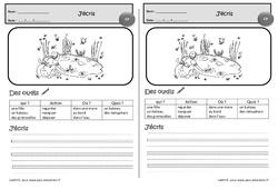 Ecrire à partir d'une image – Exercices – Production d'écrit : 1ere Primaire