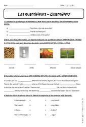 Quantifieurs – Révisions – Quantifiers : 1ere Secondaire
