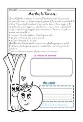 Marthe la Tomate – 1 histoire 1 problème : 3eme Primaire