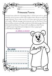 Frimousse l'ourse – 1 histoire 1 problème : 4eme Primaire