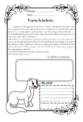 Yvette la belette – 1 histoire 1 problème : 4eme Primaire