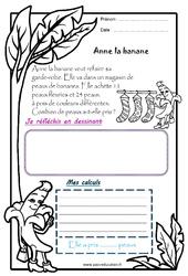 Anne la banane – 1 histoire 1 problème : 1ere Primaire