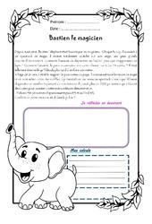 Bastien l'éléphant magicien – 1 histoire 1 problème : 5eme Primaire