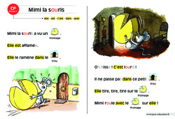Mimi la souris – Lecture compréhension – Histoire illustrée – Niveau 1 : 1ere Primaire