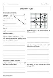 Calculer les angles – Révisions brevet – Cosinus et sinus : 3eme Secondaire