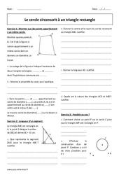 Cercle circonscrit à un triangle rectangle – Exercices avec correction : 2eme Secondaire
