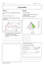 Pyramides – Exercices corrigés : 2eme Secondaire