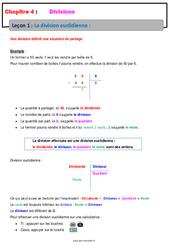 La division euclidienne – Cours – Divisions : 6eme Primaire