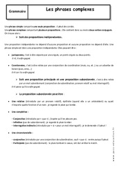 Phrases simples et phrases complexes – Cours : 3eme Secondaire