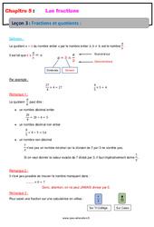 Fractions et quotients – Cours – Les fractions : 6eme Primaire