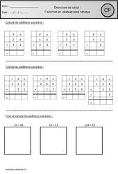 Addition en colonnes sans retenue – Exercices à imprimer : 1ere Primaire