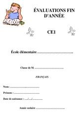 Français – Bilan fin d'année avec corrigés : 2eme Primaire