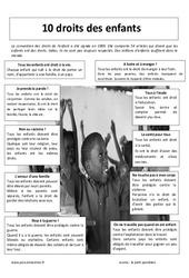 Droits des enfants – Lecture documentaire : 3eme Primaire