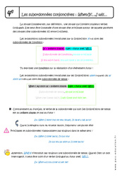 Subordonnées conjonctives – Fiches When – If – I will – Cours : 2eme Secondaire