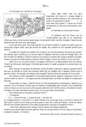Asticots – Récit – Lecture : 3eme Primaire