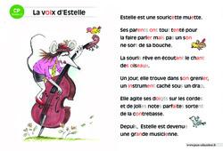La voix d'Estelle – Lecture compréhension – Histoire illustrée – Niveau 2 : 1ere Primaire