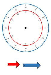 Horloge – Apprendre à lire l'heure : 3eme, 4eme, 5eme Primaire