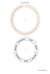 Calendrier perpétuel – Roue – Outils pour la classe : Primaire – Cycle Fondamental