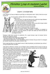 Monsieur Loup et madame Lapine – Contes de randonnée – Questionnaires : 2eme, 3eme Primaire