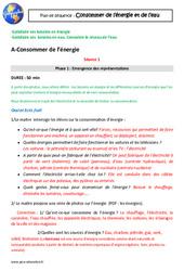 Besoins en énergie, en eau – Consommer en France – Séquence complète : 4eme Primaire