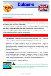 Colours – Anglais – Lexique – Séquence complète : 2eme, 3eme Primaire