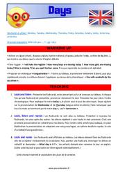 Days of the week – Anglais – Lexique – Séquence complète : 4eme, 5eme Primaire