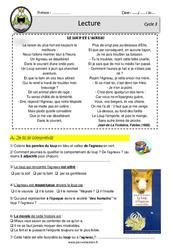Le loup et l'agneau – Fable Lafontaine – Lecture – EDL : 4eme, 5eme Primaire