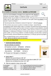 Maxime a la tête dure – Enquête inspecteur Lafouine – EDL : 2eme, 3eme Primaire