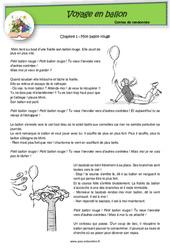 Voyage en ballon – Contes de randonnée – Questionnaires : 2eme, 3eme Primaire