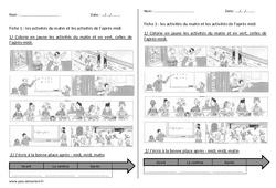 Journée – Séquence – Fiche de préparation : 1ere, 2eme Primaire