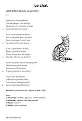 Le chat de Charles Baudelaire – Lecture – poésie : 6eme Primaire