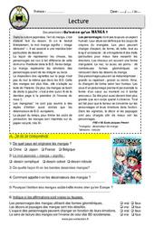 Qu'est – ce qu'un manga? – Lecture – EDL – Décrochage scolaire : 4eme, 5eme, 6eme Primaire
