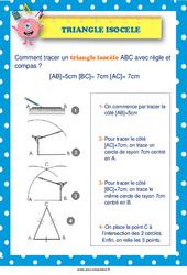 Tracer un triangle isocèle –  au  – Affiche : 2eme, 3eme, 4eme, 5eme Primaire
