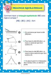 Tracer un triangle équilatéral –  au  – Affiche : 2eme, 3eme, 4eme, 5eme Primaire
