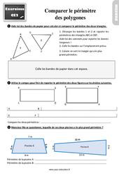 Exercices, révisions sur comparer le périmètre de polygones au  avec les corrections : 3eme Primaire