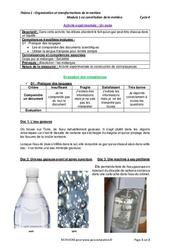Un soda – Activité expérimentale avec le corrigé : 1ere Secondaire