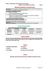 Une recette de sirop – Démarche d'investigation avec les corrections : 1ere Secondaire